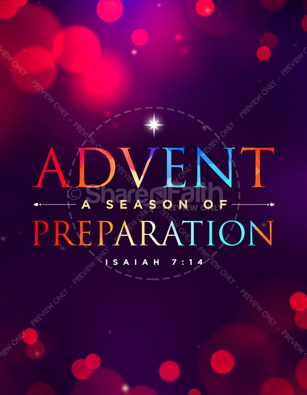 advent a season of preparation church flyer template