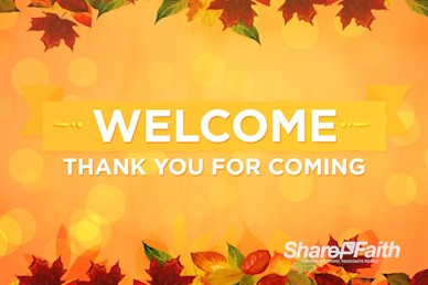 Happy Thanksgiving Blessings Welcome Motion Loop