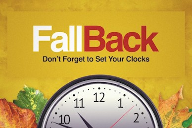 Fall Back Daylight Saving Time Church Motion Graphic