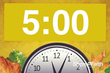 Fall Back Daylight Saving Time Church Countdown Video