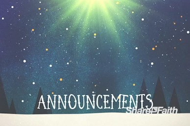 Merry Christmas Tree Announcements Motion Graphic