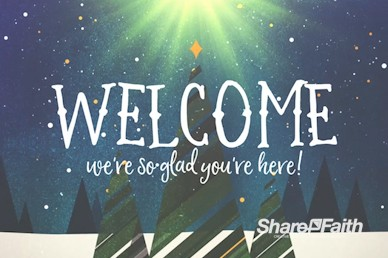 Merry Christmas Tree Welcome Motion Graphic