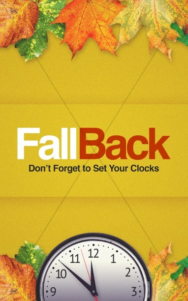 Fall Back Daylight Saving Time Church Bulletin