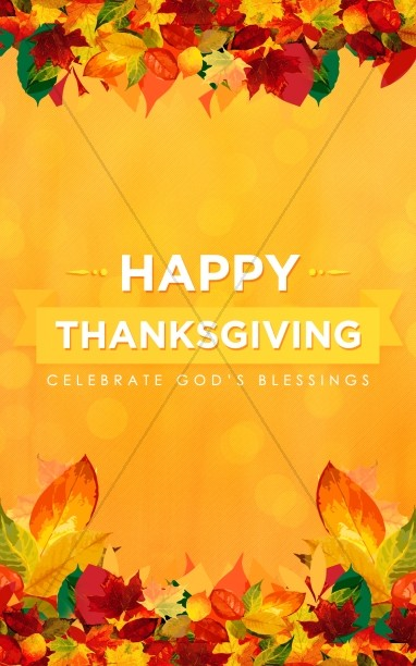 Happy Thanksgiving Blessings Church Bulletin