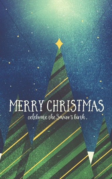 Merry Christmas Tree Church Bulletin