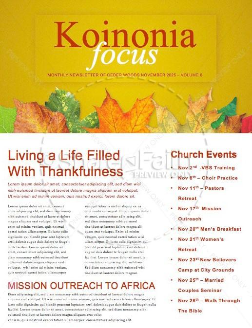 Fall Back Daylight Saving Time Church Newsletter
