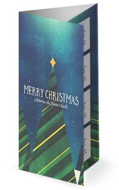 Merry Christmas Tree Church Trifold Bulletin