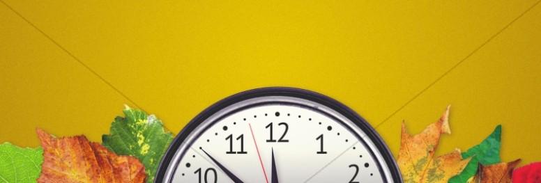 Fall Back Daylight Saving Time Church Website Banner