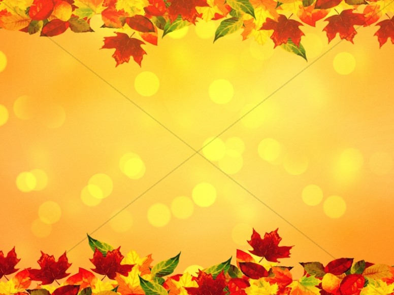 Thanksgiving Autumn Leaves Worship Background