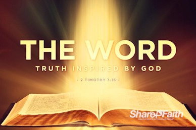 The Word of God Sermon Title Church Video Loop