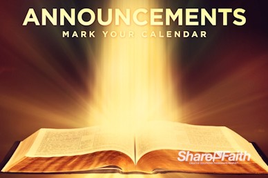 The Word of God Announcements Church Video Loop