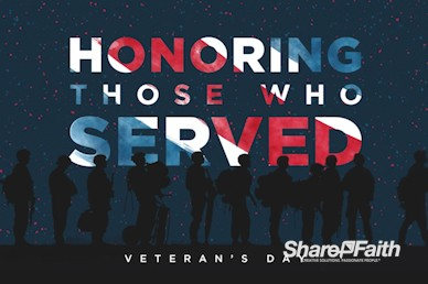 Veterans Day Honoring Those Who Served Motion Graphic