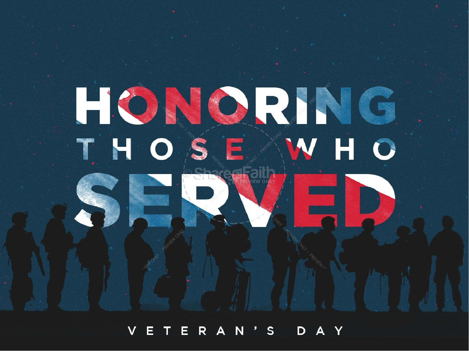 veterans day honoring those who served church service countdown, Modern powerpoint