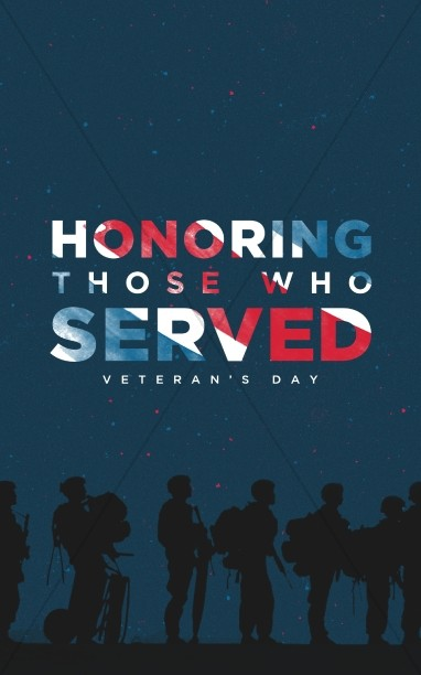Veterans Day Honoring Those Who Served Church Bulletin