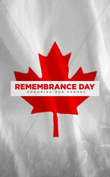 Remembrance Day Canada Flag Church Bulletin