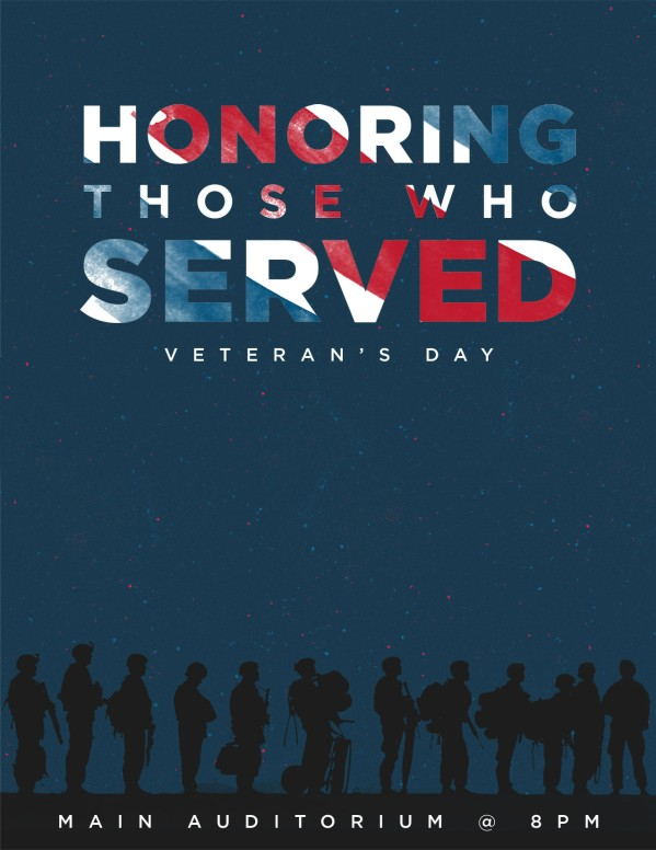 veterans day honoring those who served church flyer template flyer