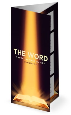 The Word of God Bible Church Trifold Bulletin