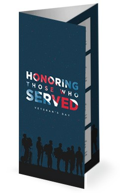 Veterans Day Honoring Those Who Served Church Trifold Bulletin