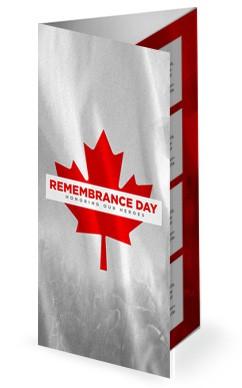 Remembrance Day Canada Flag Church Trifold Bulletin