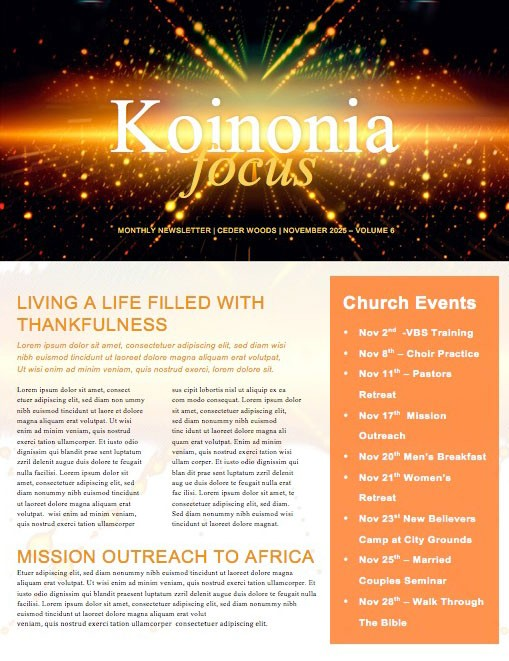 Momentum Church Newsletter