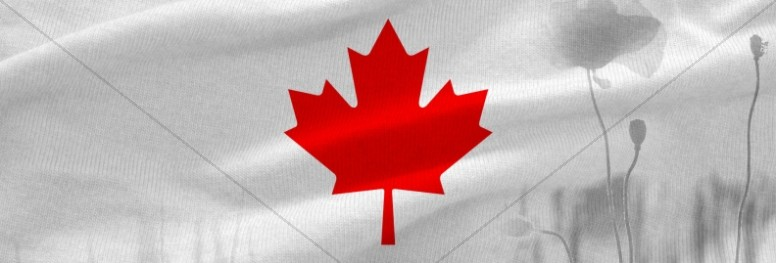 Remembrance Day Canada Flag Church Website Banner