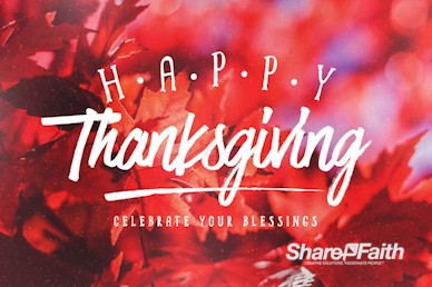 Happy Thanksgiving Wishes Title Motion Graphic