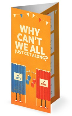 Why Cant We All Get Along Church Trifold Bulletin