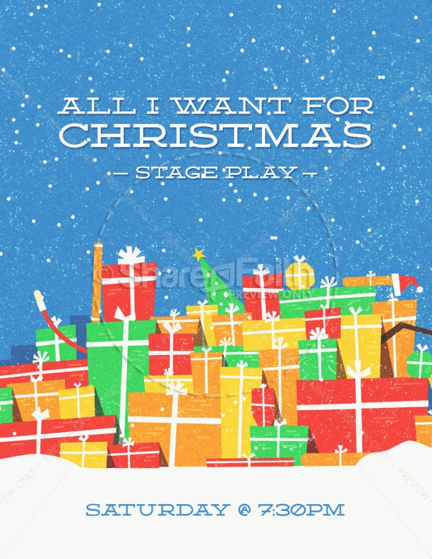 All I Want For Christmas Church Flyer