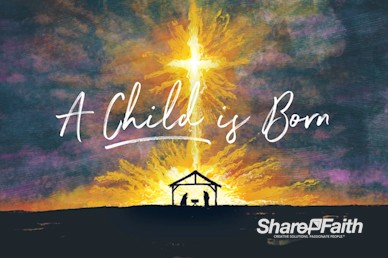 A Child Is Born Title Motion Graphic