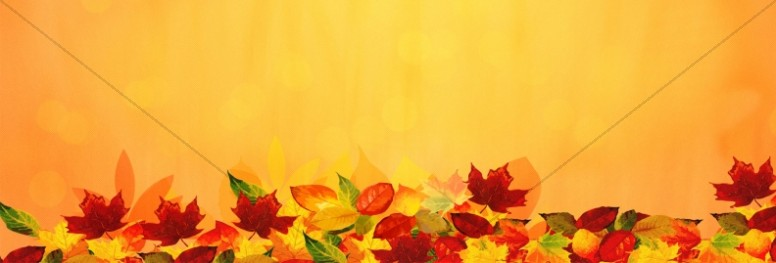 Happy Thanksgiving Blessings Church Website Banner