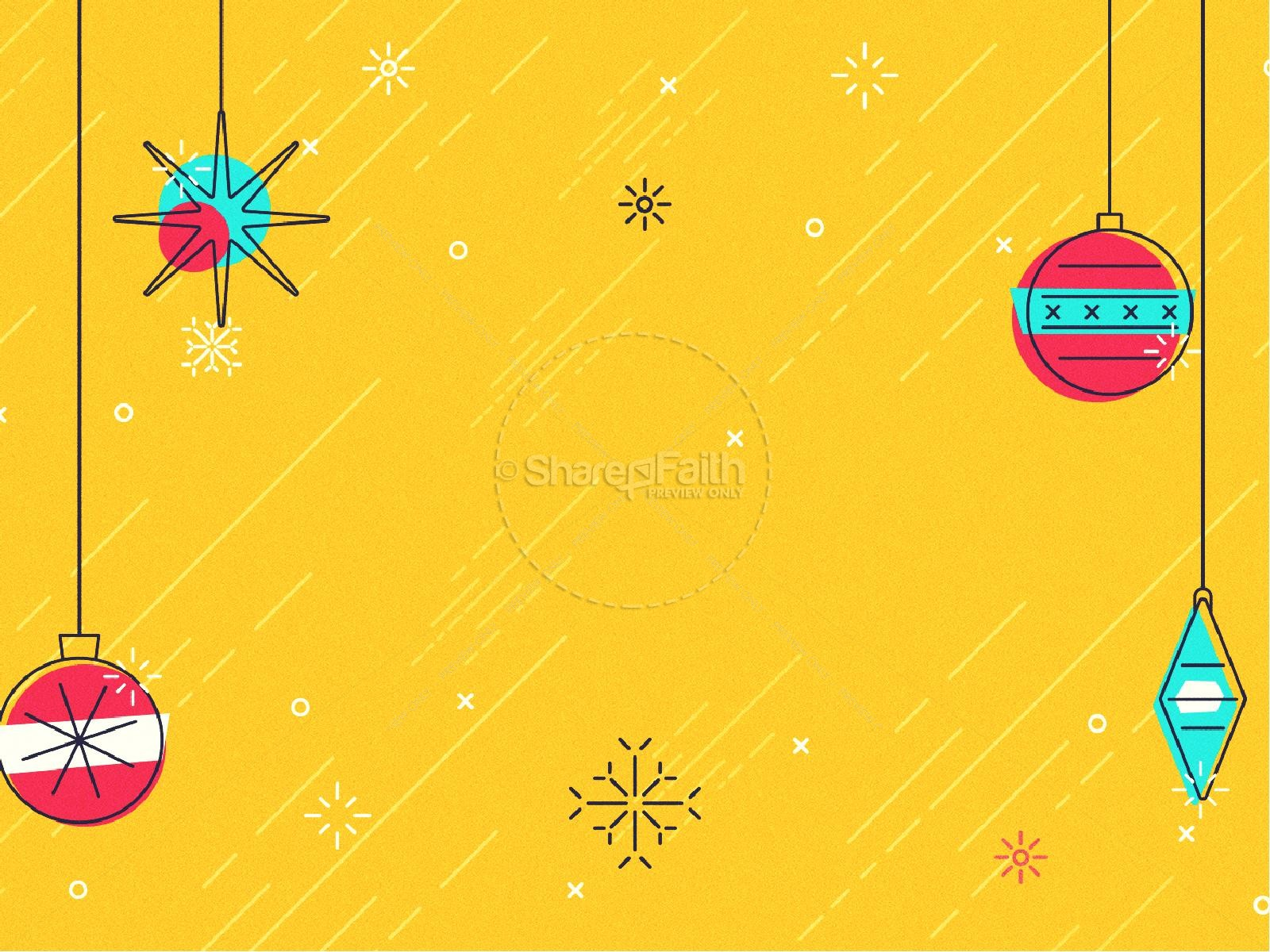Merry Christmas Ornaments Church PowerPoint