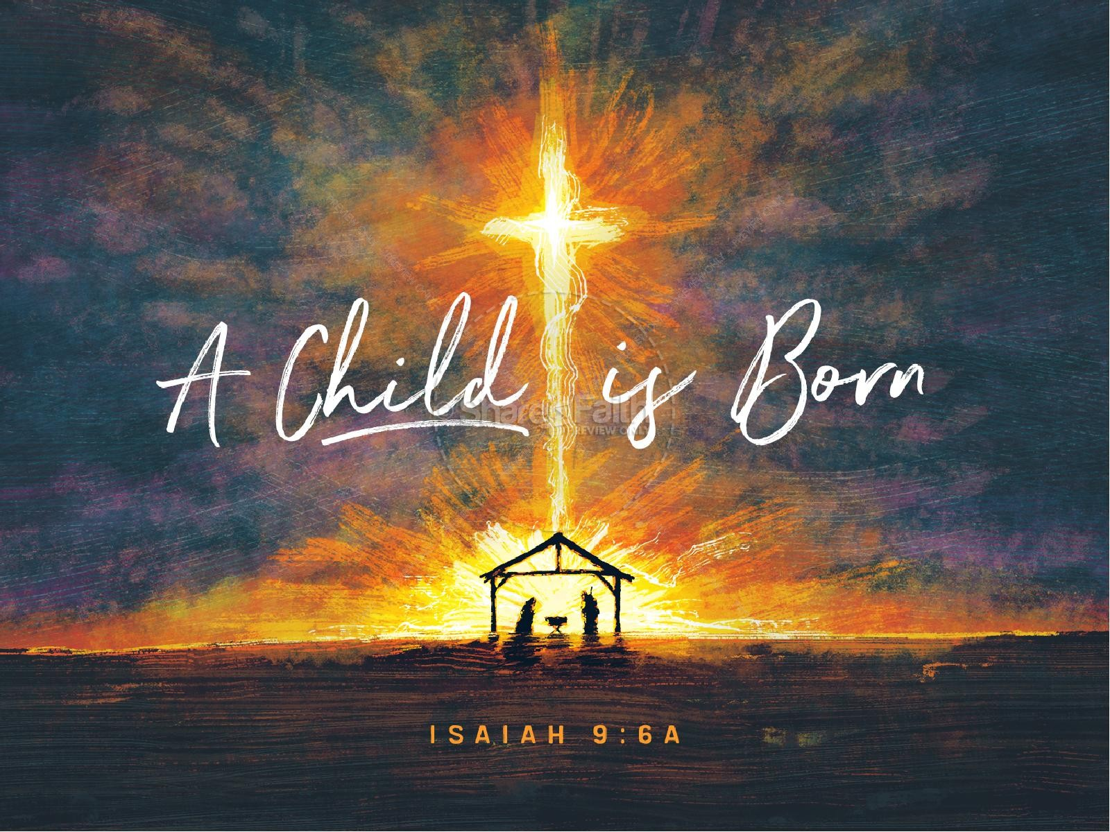 A Child Is Born Christmas PowerPoint