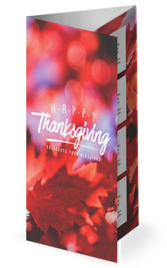 Happy Thanksgiving Wishes Church Trifold Bulletin