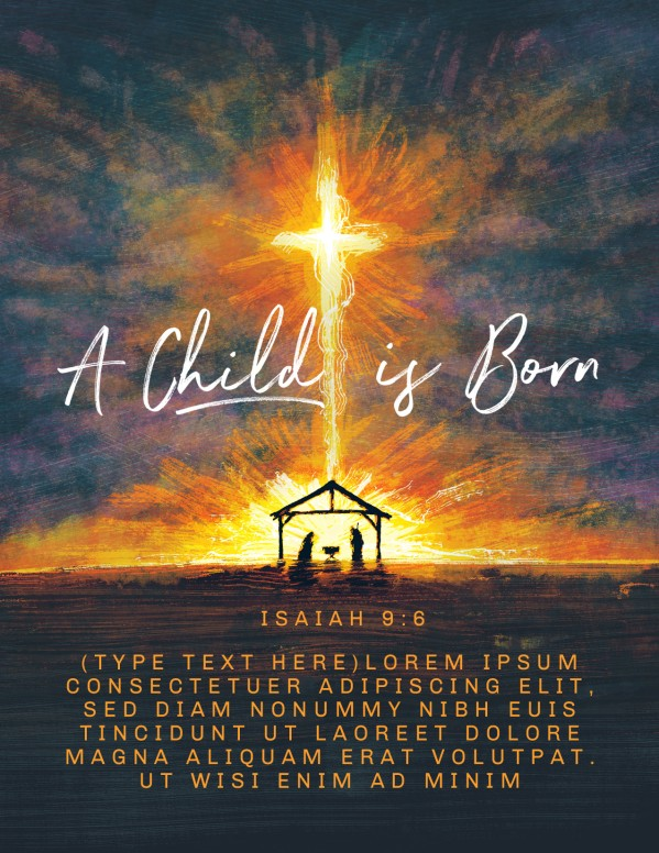 A Child Is Born Christmas Flyer