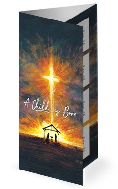 A Child Is Born Christmas Trifold Bulletin