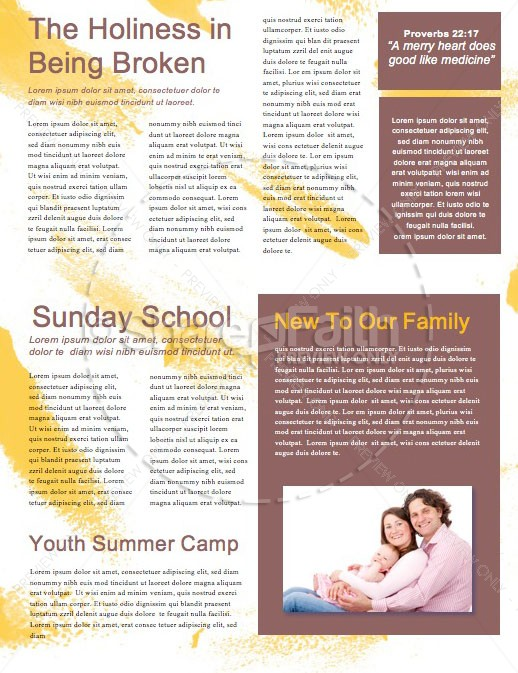 A Child Is Born Christmas Newsletter