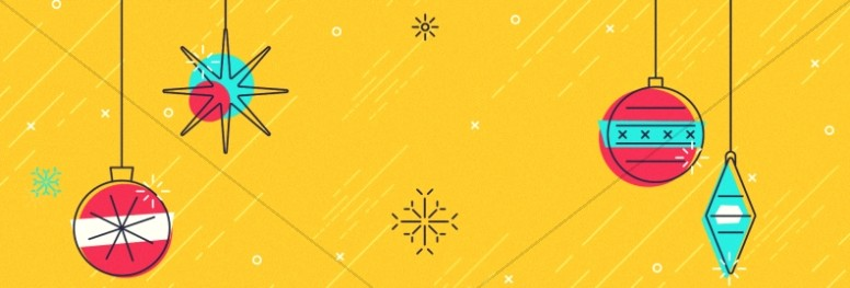 Merry Christmas Ornaments Church Website Banner
