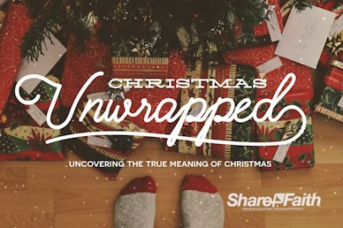 Christmas Unwrapped Church Title Motion Loop