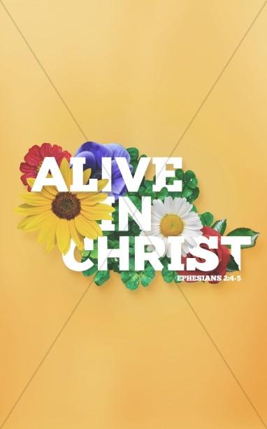 Alive in Christ Sermon Bulletin