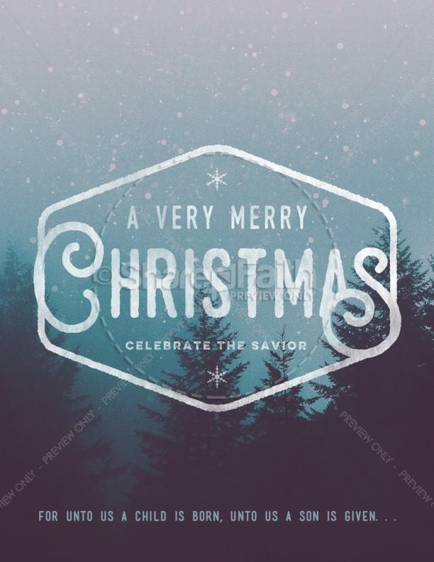 Christian Merry Christmas Church Flyer