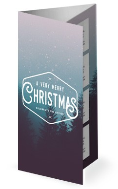 Christian Merry Christmas Church Trifold Bulletin