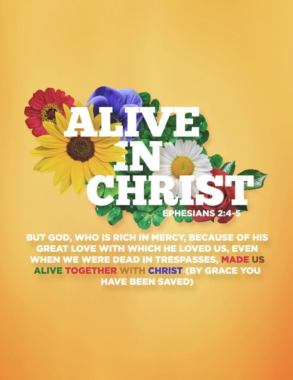 Alive in Christ Church Flyer