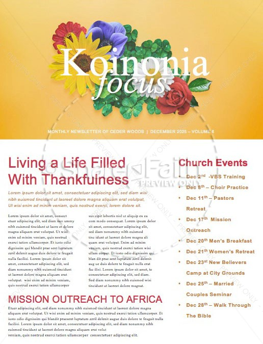 Alive in Christ Church Newsletter