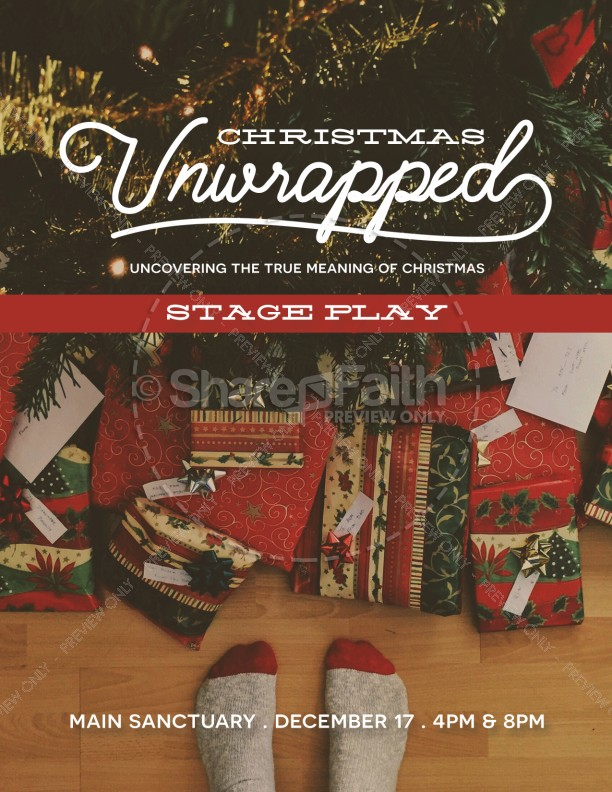 Christmas Unwrapped Church Flyer