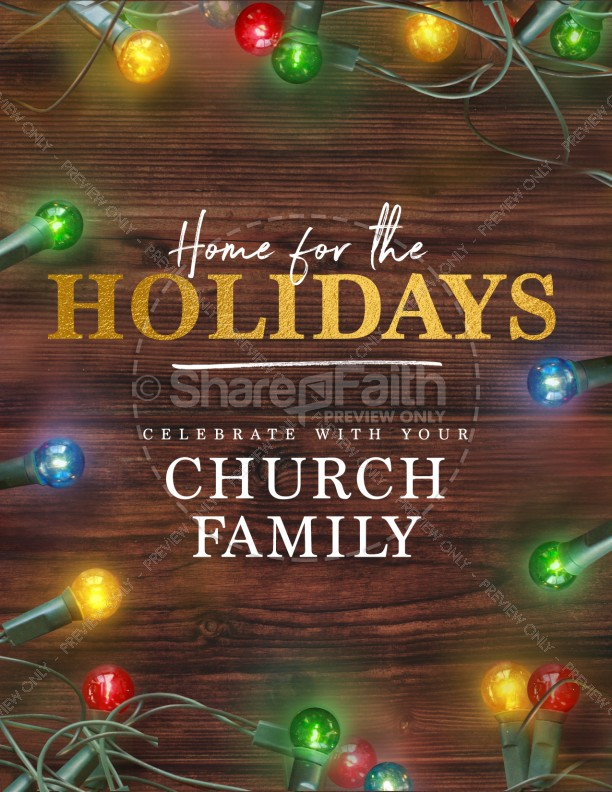 Home For The Holidays Christmas Flyer