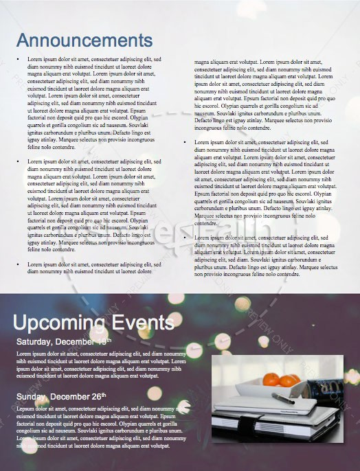 Christmas Tree Lights Church Newsletter | page 4