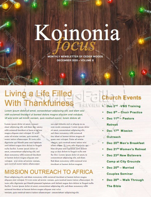 Home For The Holidays Christmas Newsletter