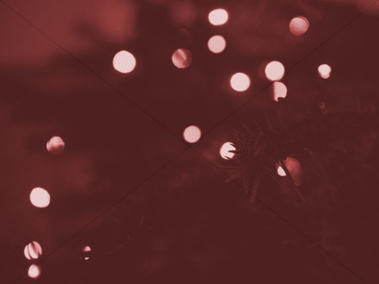 Red Christmas Tree Lights Wallpaper