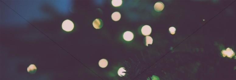 Christmas Tree Lights Church Website Banner