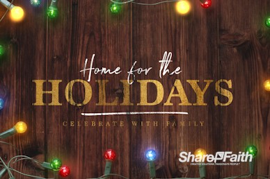 Home for the Holidays Christmas Motion Graphic